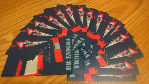 Dr Enigma stickers - very popular with the tech crowd