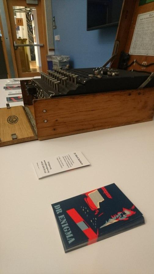 Enigma Machine ready for action - Facebook HQ, Menlo Park Campus, USA