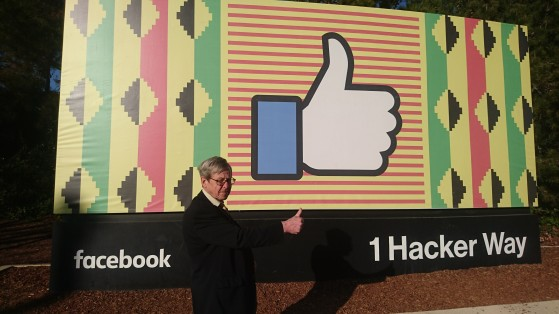 Speaking at the iconic Facebook HQ, USA