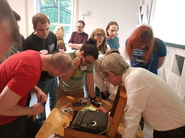 Hands-on Enigma demo at Monzo Bank HQ, London, May 2018