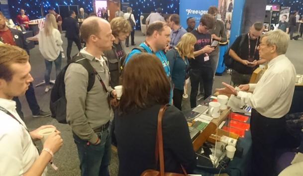 Hands-on Enigma demo at Turing Fest 2018, Edinburgh, UK