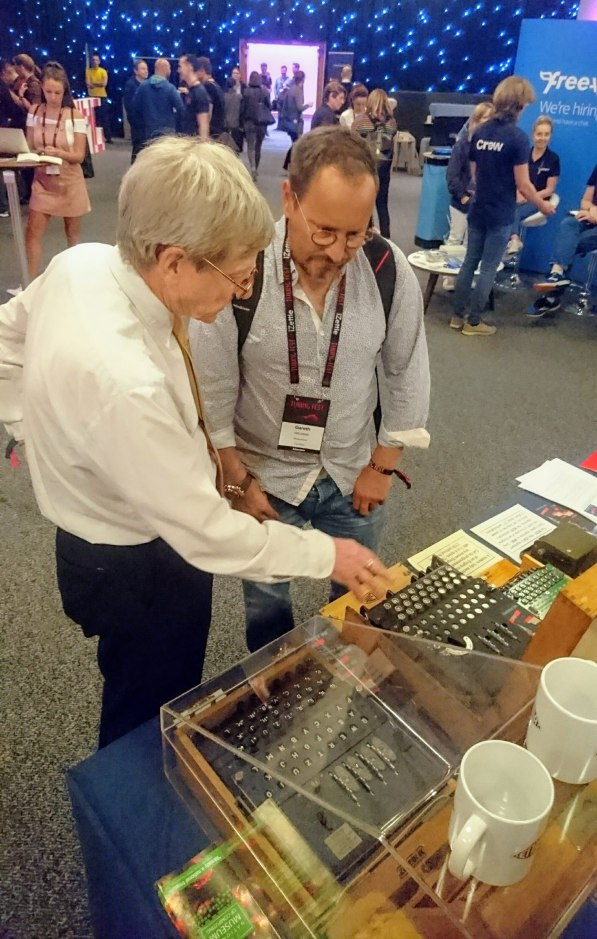 Gareth Williams, Skyscanner co-founder, plays with my Enigma Machine