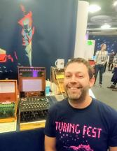 Brian Corcoran, Turing Fest co-founder, plays with my Enigma Machine
