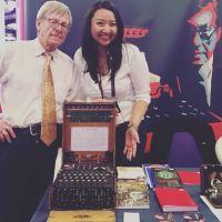 Tika Larasati and Dr Enigma at Turing Fest 2018, Edinburgh