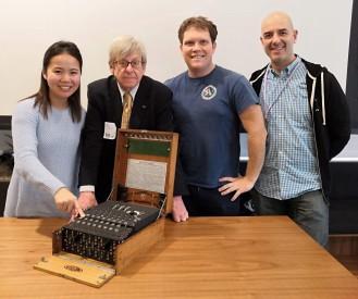 Dropbox Trust & Security team with Dr Enigma: Jessica Chang, Jake Orr & Scott Joaquim, San Francisco, Oct 2018
